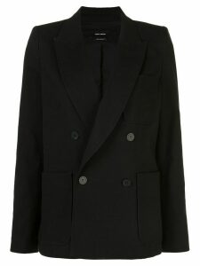 Isabel Marant double breasted patch-pocket blazer - Black