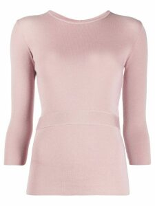 Prada cashmere blend buttoned top - PINK