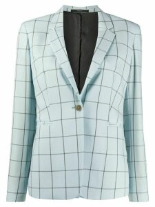 Paul Smith check fitted blazer - Blue