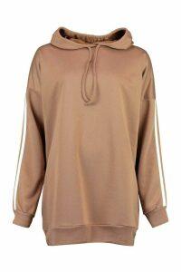 Womens Side Stripe Extreme Oversize Hoody - Beige - 16, Beige