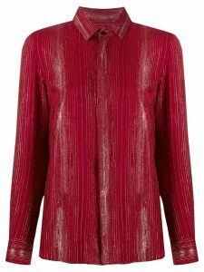 Saint Laurent shimmer shirt - Red