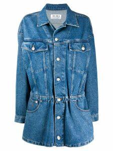 The Attico denim shirt dress - Blue