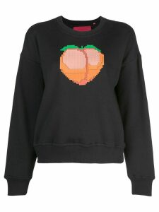 Mostly Heard Rarely Seen 8-Bit Peach crew neck sweatshirt - Black