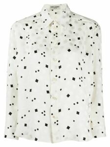 Saint Laurent abstract print shirt - White
