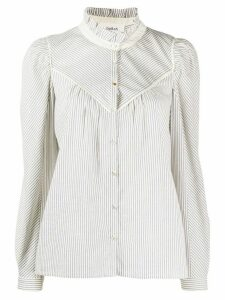 Ba & Sh striped long-sleeve shirt - White