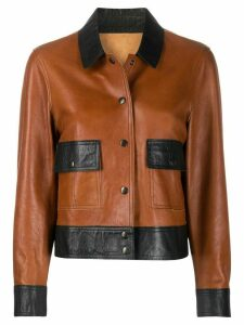 YMC box cut jacket - Brown