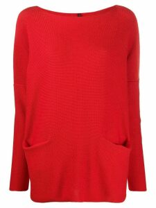 Daniela Gregis two pocket knitted jumper - Red