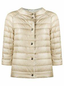 Herno reversible short puffer jacket - NEUTRALS