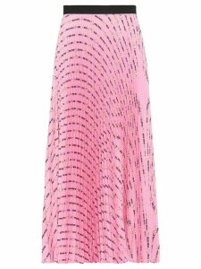 Miu Miu pleated floral print skirt - PINK