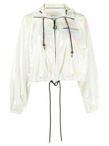 Kenzo faded cropped jacket - White