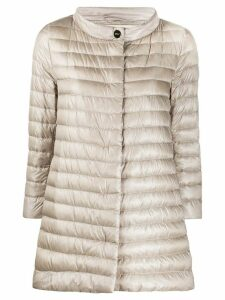 Herno quilted down A-line jacket - Grey