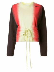 AMBUSH tie-dye lace-up front sweatshirt - Multicolour