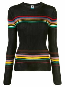 M Missoni striped ribbed jumper - Black