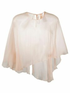Maria Lucia Hohan metalized sheer cape top - PINK