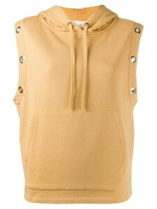 Ba & Sh sleeveless hoodie - Yellow