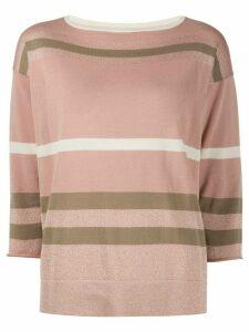 Fabiana Filippi stripe print jumper - PINK