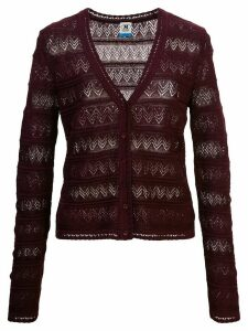 M Missoni perforated cardigan - Red