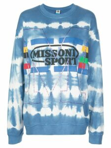 M Missoni oversized tie-dye print sweatshirt - Blue