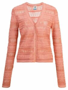 M Missoni perforated cardigan - PINK