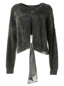 Taylor Periphery textured cardigan - Grey