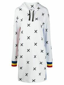 Rossignol X-print sweatshirt dress - White