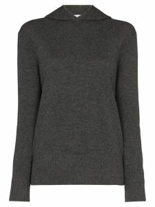 Ply-Knits knitted cashmere hoodie - Grey