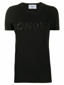 Dondup embellished logo T-shirt - Black