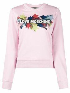 Love Moschino star print sweater - PINK