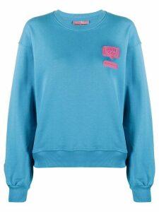 Chiara Ferragni patch-embellished sweatshirt - Blue