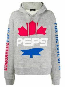 Dsquared2 #D2XPepsi logo print hoodie - Grey