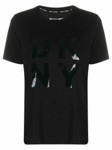 DKNY logo-print crew neck T-shirt - Black