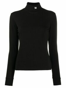 MISBHV embroidered roll neck sweater - Black