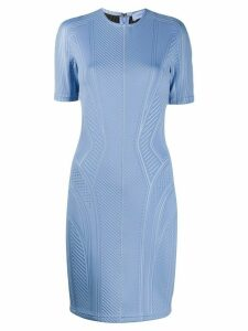 Mugler ribbed fitted dress - Blue