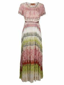 Missoni abstract-pattern maxi dress - PINK