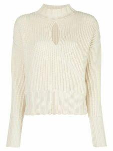Nicholas keyhole-embellished jumper - White