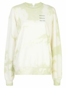 Proenza Schouler White Label tie-dye print sweatshirt - Yellow