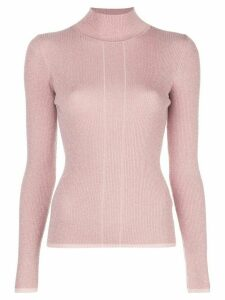 Nicholas ribbed knit turtleneck jumper - PINK