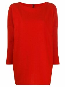 Daniela Gregis loose-fit crew neck jumper - Red