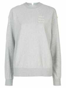 Proenza Schouler White Label logo detail sweatshirt - Grey