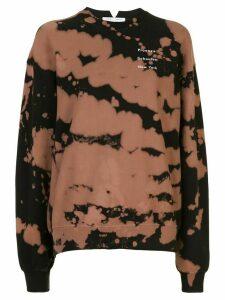 Proenza Schouler White Label tie-dye print sweatshirt - Black
