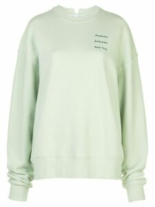 Proenza Schouler White Label logo detail sweatshirt - Green