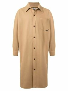 Alexander Wang oversized knitted shirt coat - Brown