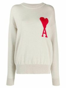 Ami Paris Ami de Coeur knitted jumper - NEUTRALS