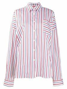 Ermanno Scervino oversized regatta pattern shirt - White