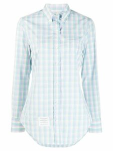 Thom Browne Micro Buffalo Check Classic Button Down Shirt - Blue