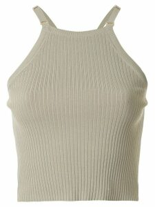 Dion Lee square neck cropped tank top - Green