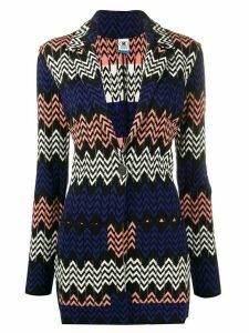 M Missoni geometric pattern cardigan - Black