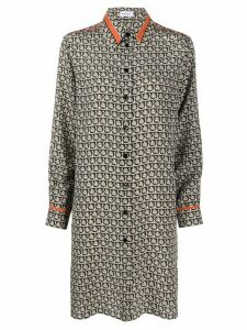 Salvatore Ferragamo Gancini print long-shirt - NEUTRALS
