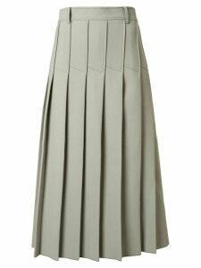 Dion Lee column pleated midi skirt - Green