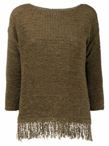 Fabiana Filippi textured fringe jumper - Brown